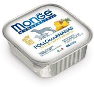 Monge Dog Monoprotein Fruits Консервы для собак паштет из курицы с ананасом, 150г