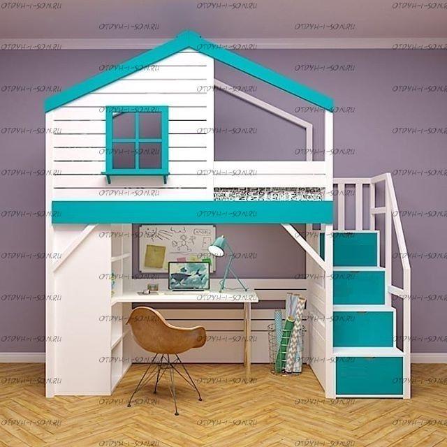 Кровать-чердак Домик Fairy Land Roof №8 (любые размеры)