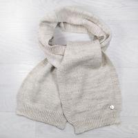 ш1013-26 Шарф детский для мальчика крупной вязки Vetex лен