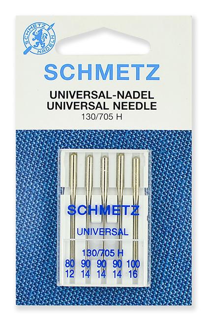 Иглы стандартные Schmetz 130/705H №№ 80,90(3),100 (22:15.2.VOS)