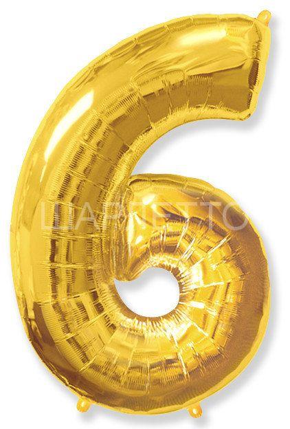 """Цифра """"6"""" золото"""