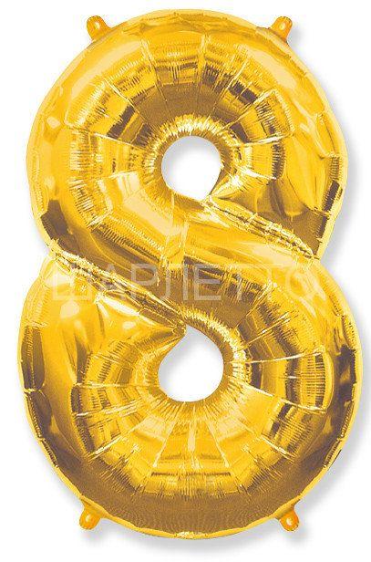 """Цифра """"8"""" золото"""