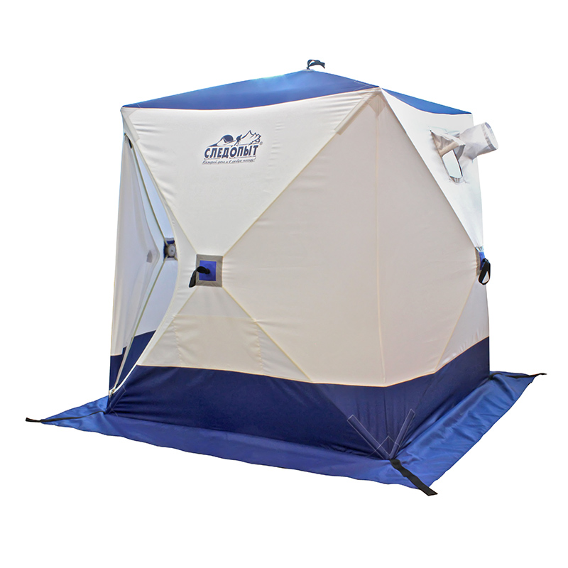 Палатка зимняя куб СЛЕДОПЫТ, 2-местная, цв. бело-синий
