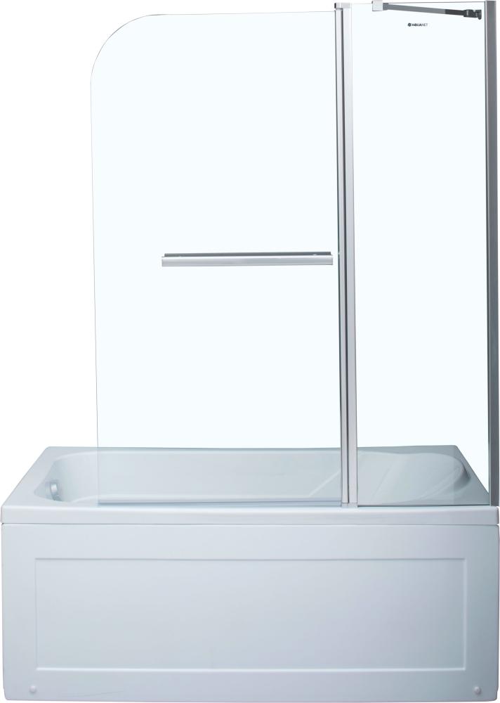 Шторка для ванны Aquanet SG-1200, прозрачное стекло