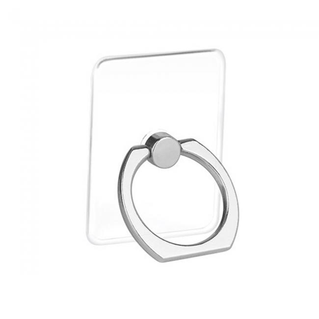 Кольцо-держатель для телефона прозрачное квадратное