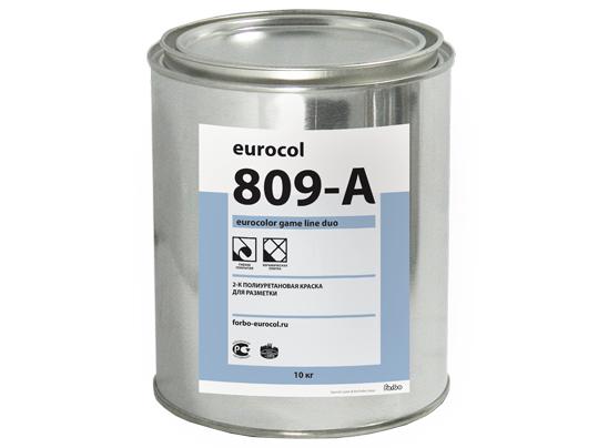 809-А Eurocolor 2-компонентная полиуретановая краска для разметки спортивных площадок синий (0,5 кг)