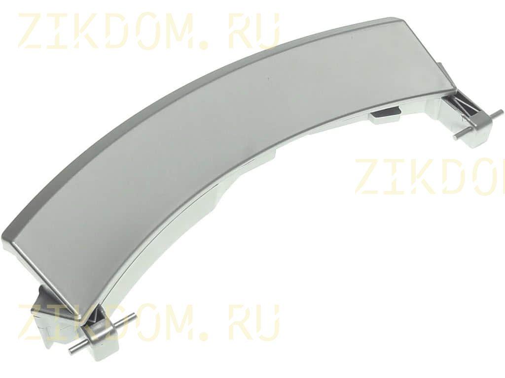 Ручка люка (648581, 751786) стиральной машины Bosch Siemens серебро