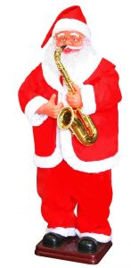 Ростовая фигура  Санта Клаус с саксофоном