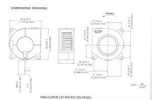 Вентилятор радиальный (центробежный) 40х40х20мм 12В
