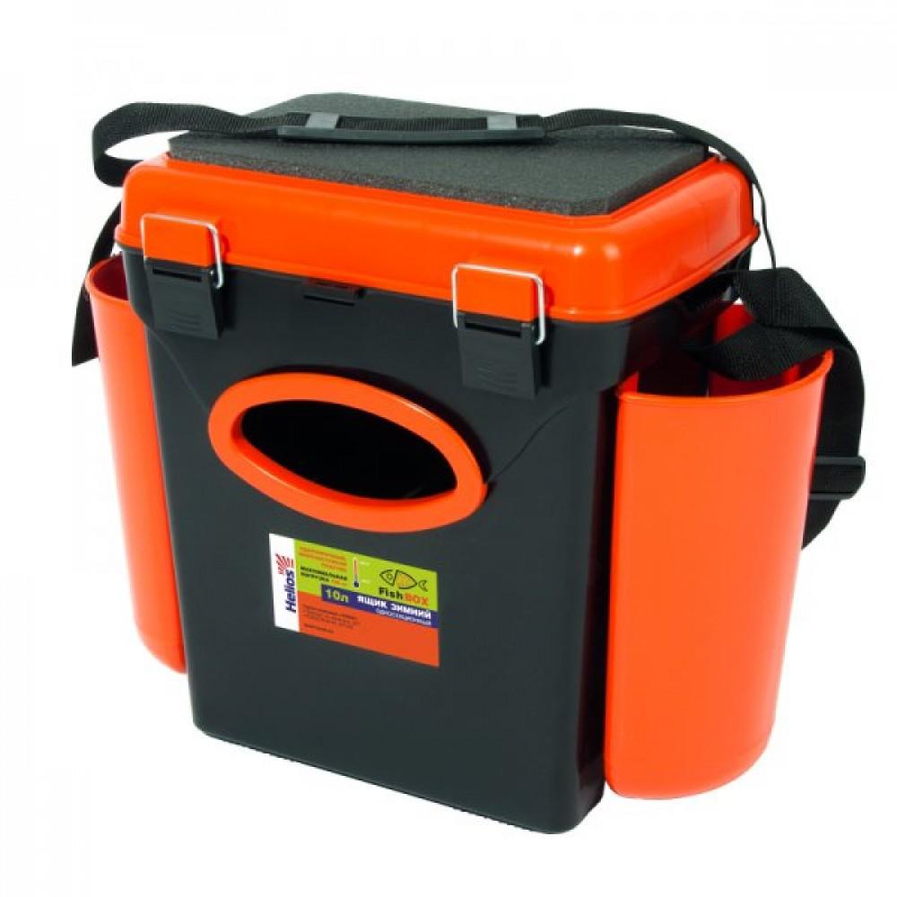 """Ящик зимний """"FishBox"""" Helios,10 л.,с навесными карманами, оранжевый"""