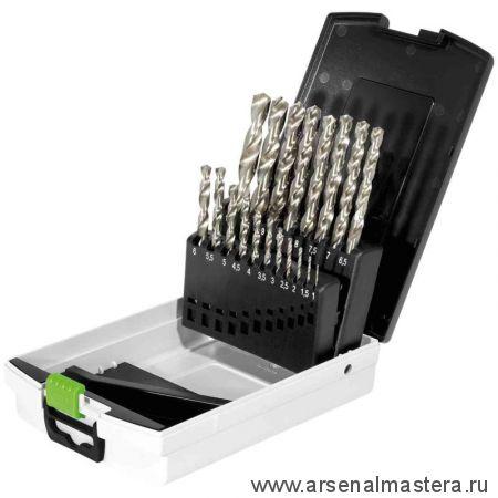 Сверла HSS по стали Festool комплект из 19 шт с держателем в кассете HSS D 1-10 Sort/19 498981