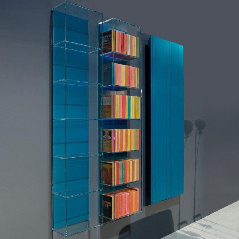 Открытый подвесной шкаф из стекла Antonio Lupi ICE ICE3 6 секций