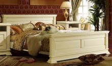 Кровать ВЕРДИ ЛЮКС П434.08м с высоким изножьем 1600  эмаль