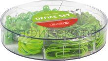 Набор канц.принадл.Brunnen Color Code зажимы,гвоздики,скрепки,резинки зеленый 20647-52
