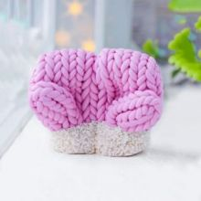 Силиконовая форма для мыла Вязаные рукавички маленькие