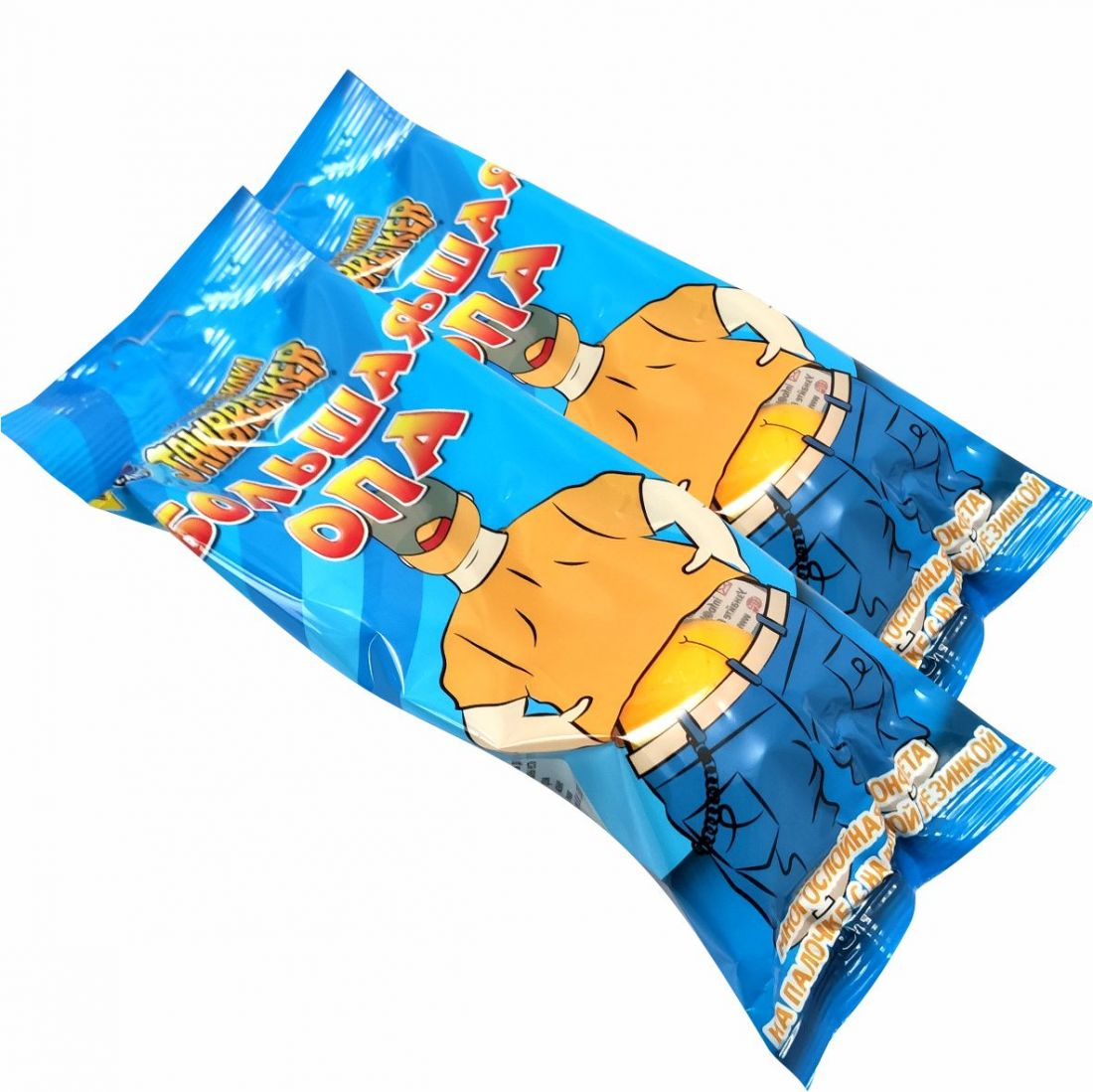 ЗУБОДРОБИЛКА Большая ОПА многослойная конфета на палочке с надувной резинкой, 2 шт.