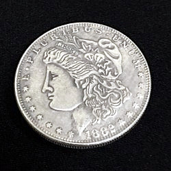 Магнитная монета Magnetic Morgan Dollar (Super Strong, 3.8cm, Brass)