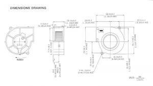 Вентилятор радиальный (центробежный) на подшипнике 58х56.3х28 12В