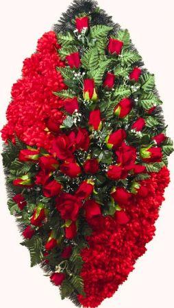 Траурный венок из искусственных цветов - Элит #40