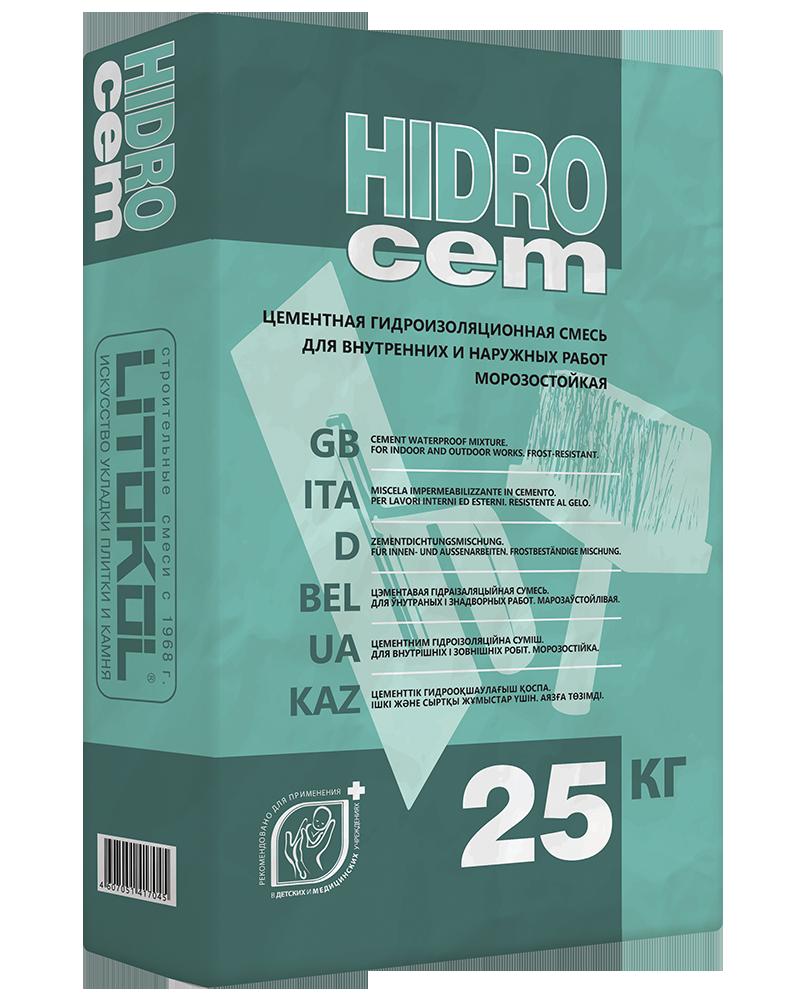 Однокомпонентная гидроизоляционная смесь HIDROCEM