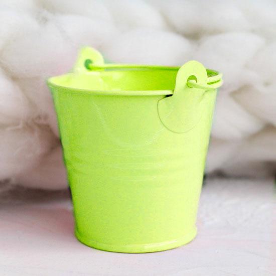 Аксессуар для куклы - Ведёрко зелёное 5 см