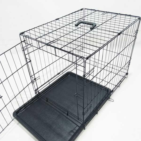 Клетка для собак кошек №4 91х58х64 1 дверь пластиковый поддон