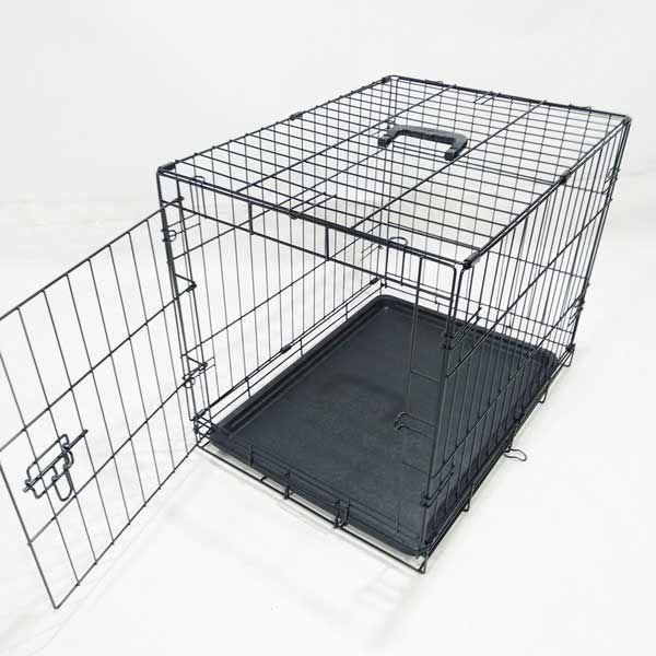 Клетка для собак кошек №3 76х48х54 1 дверь пластиковый поддон