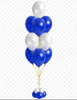 Фонтан из шаров «Бело-синий»