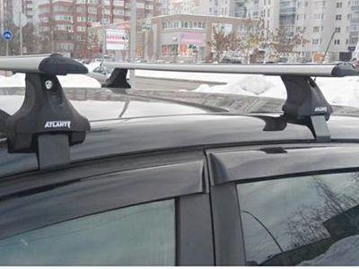 Багажник на крышу Renault Kaptur, Атлант, крыловидные аэродуги, опора Е