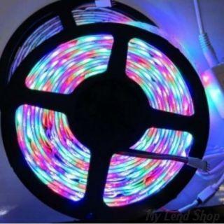 Светодиодная лента с пультом, 5 метров, Цвет свечения: Разноцветный