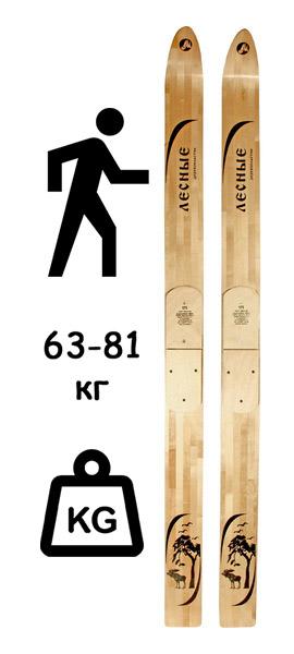 """Лыжи """"Лесные"""" деревянные (Маяк) 145-185х11 см"""