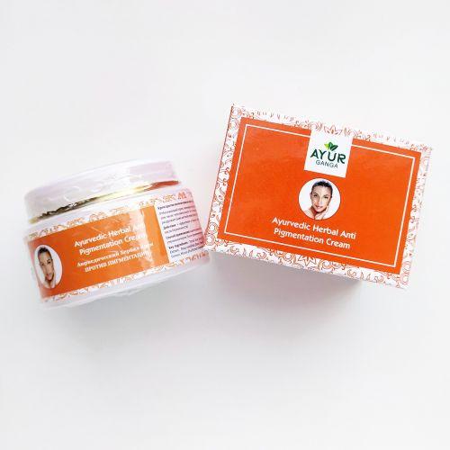 Аюрведический травяной крем против пигментации | Ayurvedic Herbal Anti pigmentation Cream | 30 г | AyurGanga