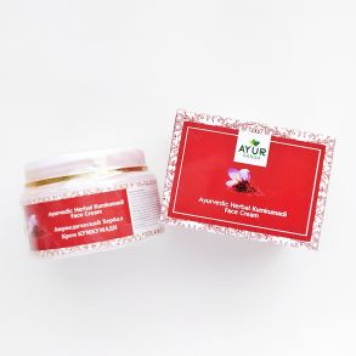 Аюрведический травяной крем Кумкумади | Ayurvedic Herbal Kumkumadi Cream | 30 г | AyurGanga