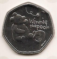 Винни Пух 50 пенсов Великобритания  2020 буклет на заказ