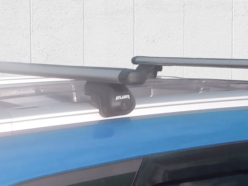 """Багажник на интегрированные рейлинги Атлант, аэродинамические дуги """"Эконом"""""""