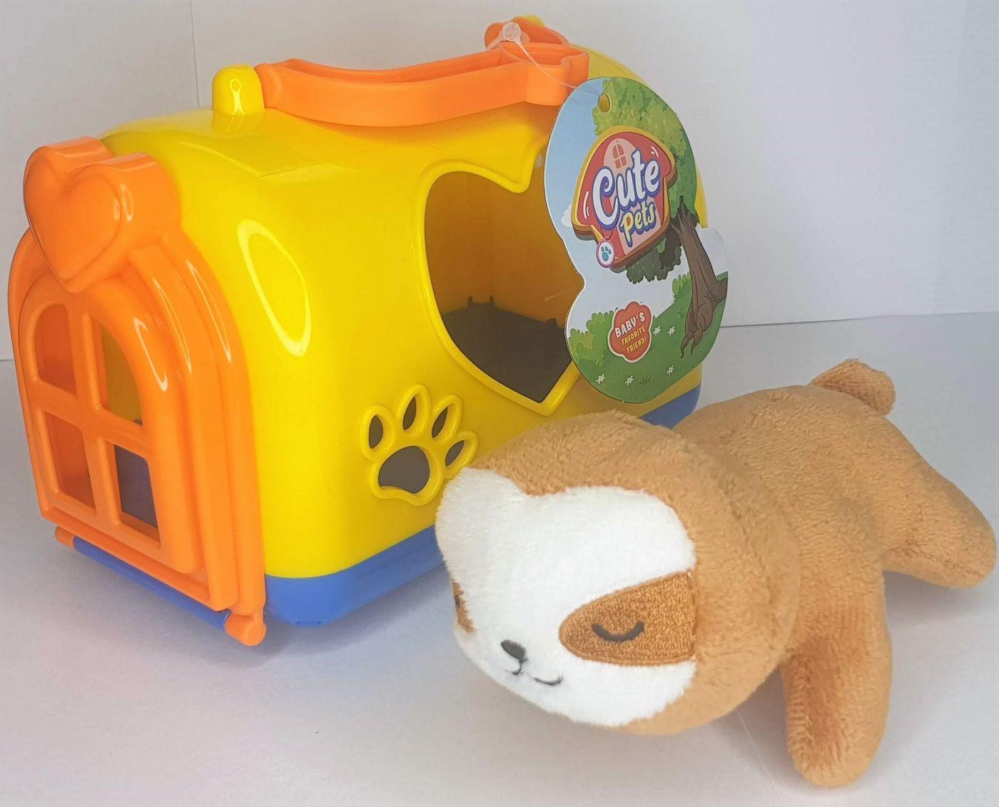 Мягкая игрушка ленивец с домиком Cute Pets