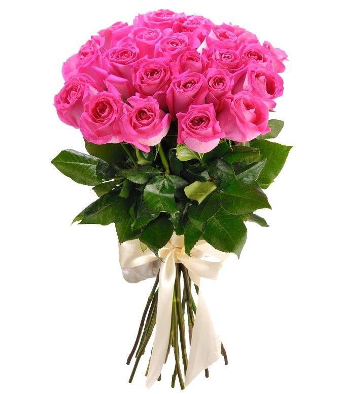 Розы розовые 60 см от 11шт