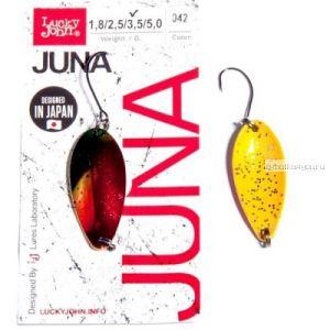 Блесна колеблющаяся Lucky John Juna 2,5 гр / 30 мм/ цвет: 042