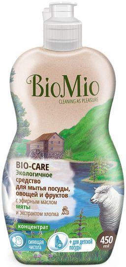 Bio-Mio средство для мытья посуды Bio-Care с эфирным маслом мяты 450 мл