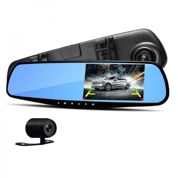 Зеркало видеорегистратор с камерой заднего вида Vehicle Blackbox DVR