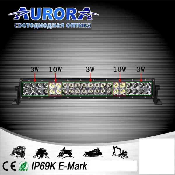 Гибридная двухрядная светодиодная балка дальнего света 88W ALO-10-P4BT