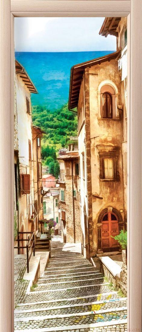 Наклейка на дверь - Неаполитанская