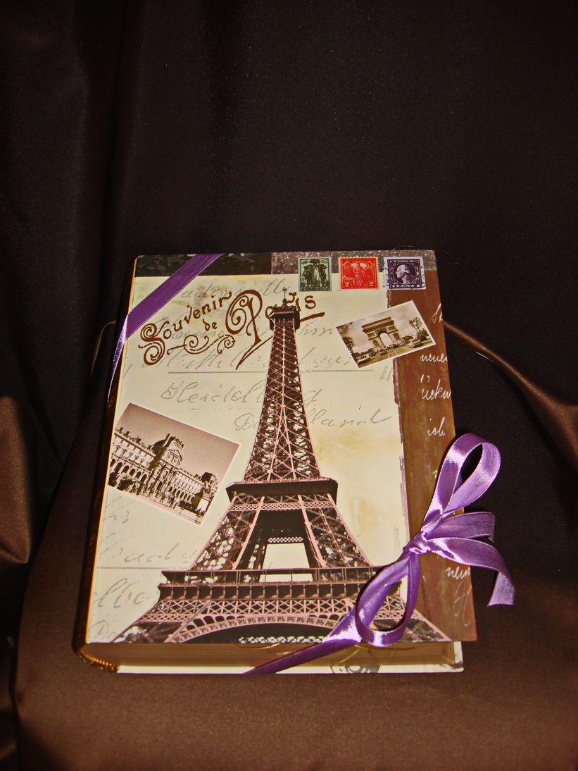 Париж Большая книга (Эксклюзив) - подарочный набор кофе,  чаем и конфетами