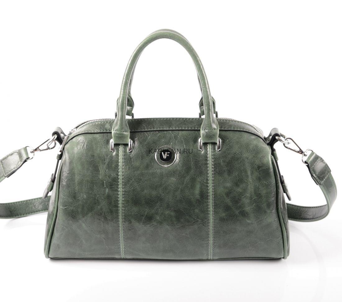 Классическая женская сумка (зелёная)