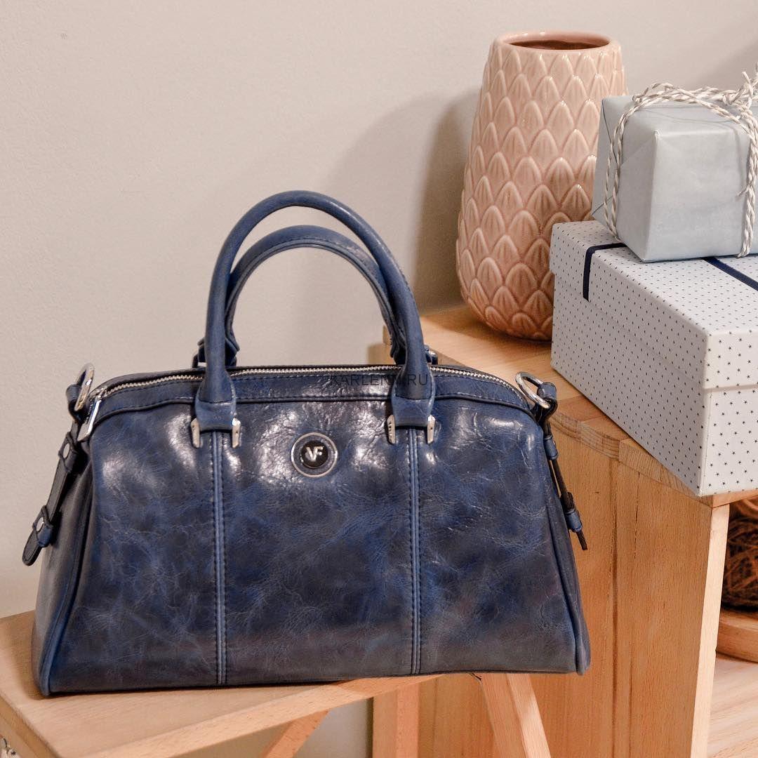 Классическая женская сумка (синяя)