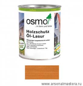 Защитное масло-лазурь для древесины для наружных работ OSMO Holzschutz Ol-Lasur 728 Кедр 0,125 л