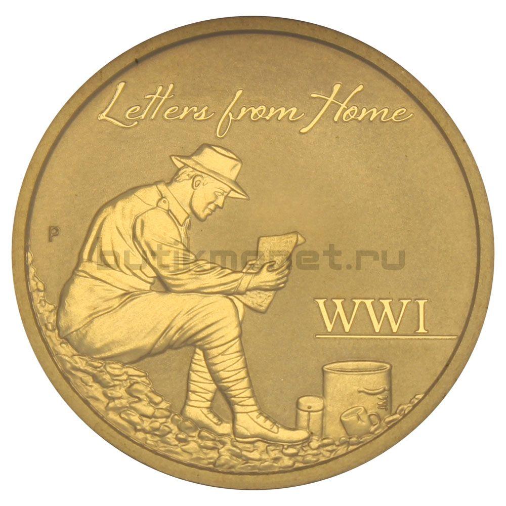 1 доллар 2016 Австралия Письма из дома
