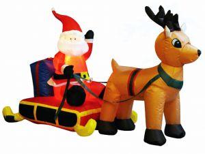 """Санта на санях"""" (90 см, длина 150 см)"""