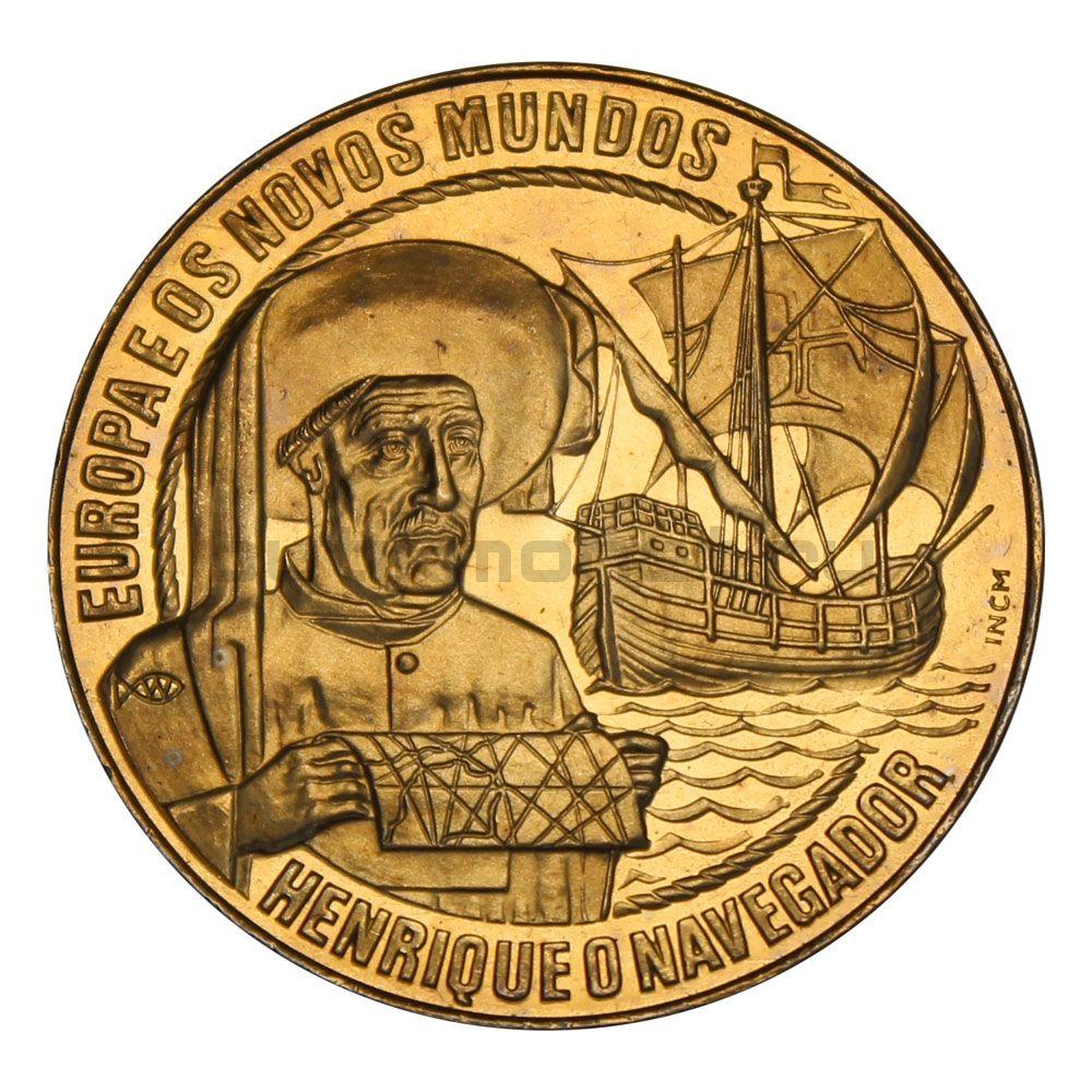2 1/2 экю 1991 Португалия Генрих Мореплаватель (Европа и Новый Свет)
