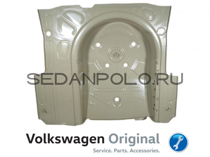 Ниша запасного колеса Пол багажника Volkswagen Polo Sedan